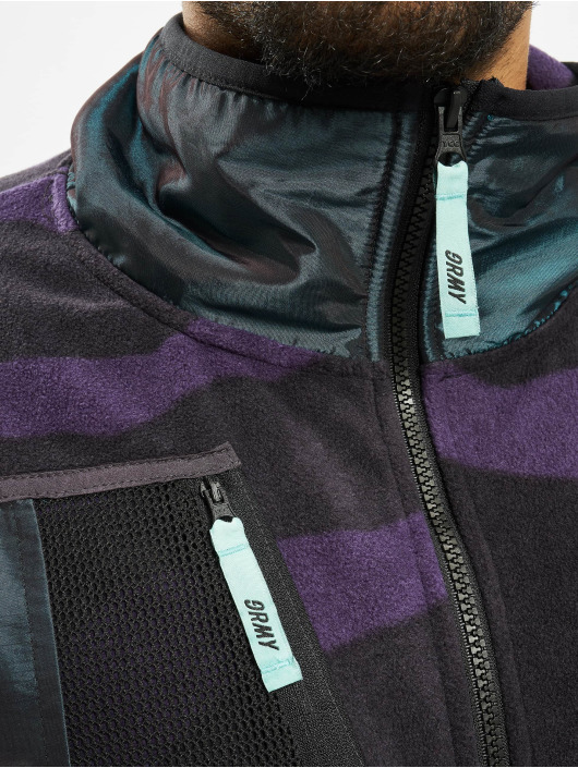 Grimey Wear Prechodné vetrovky Mysterious Vibes Zip Polar Fleece èierna