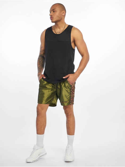 Grimey Wear shorts Midnight Chameleon groen