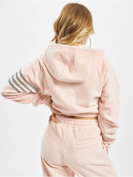 Grimey Wear Sudadera Sighting In Vostok Polar Fleece Crop rosa