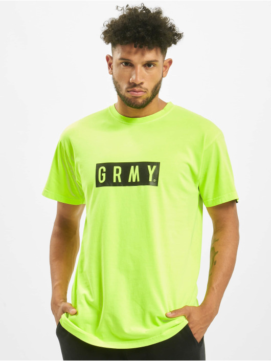 Grimey Wear t-shirt Flying Saucer geel