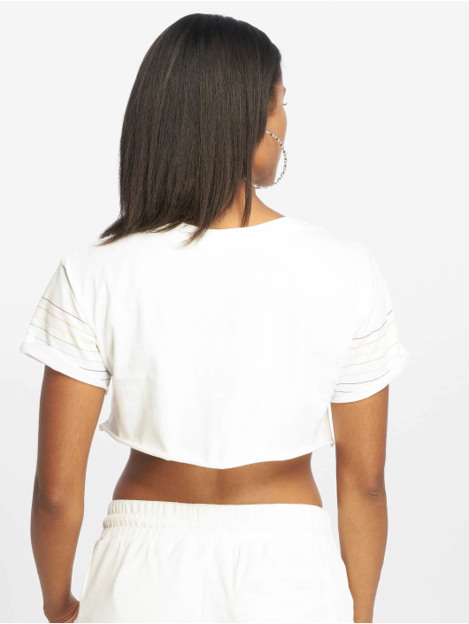 Grimey Wear Top Fluid Planet Crop white