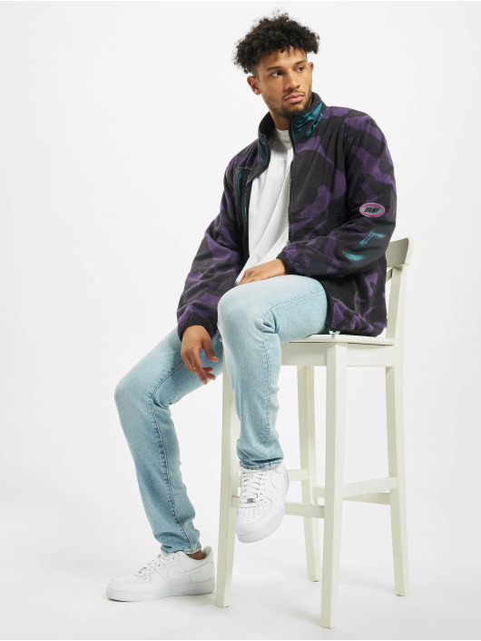 Grimey Wear Transitional Jackets Mysterious Vibes Zip Polar Fleece svart