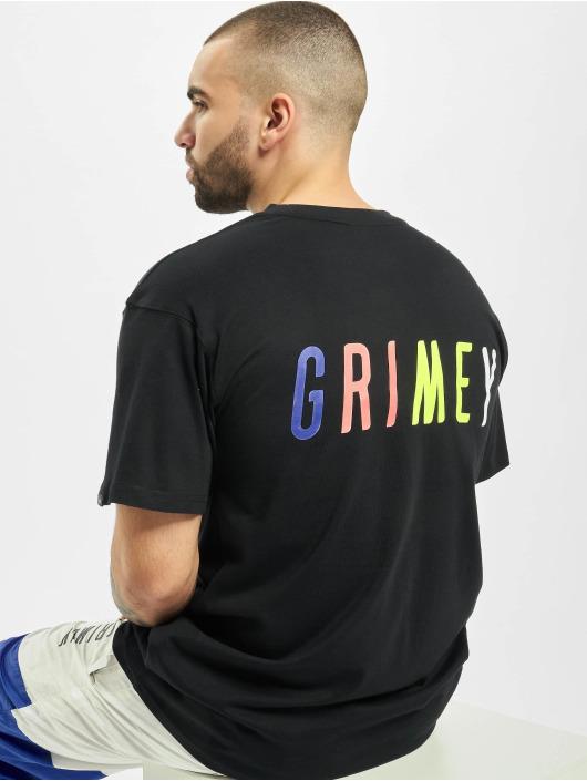 Grimey Wear Tričká Planete Noire èierna