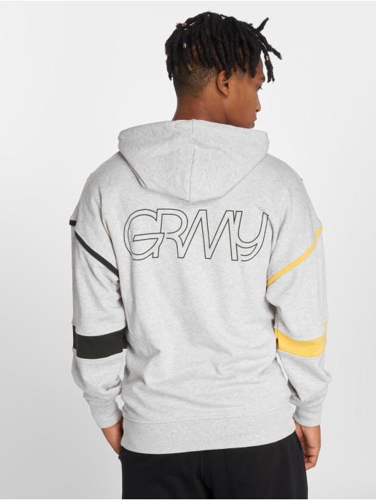 Grimey Wear Zip Hoodie Half Court Line grau