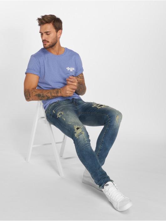 GRJ Denim Jean slim Denim Fashion bleu