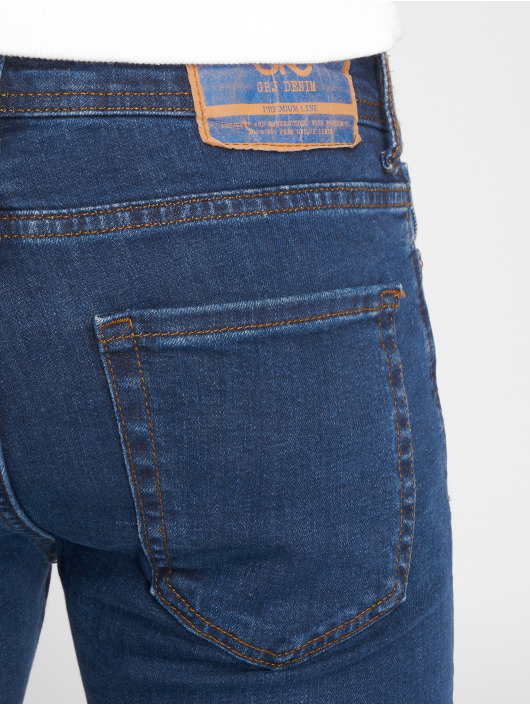 GRJ Denim Jean slim Fashion bleu