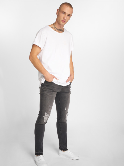 GRJ Denim Slim Fit -farkut Fashion harmaa