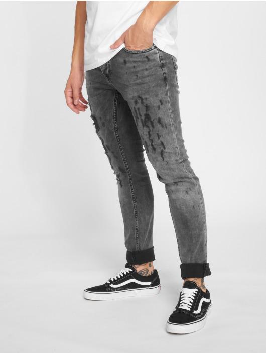GRJ Denim Slim Fit Jeans Fashion grijs