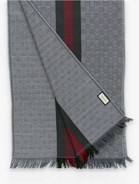 Gucci Echarpe Logo gris