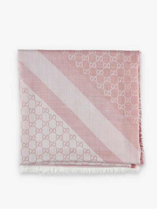 Gucci Sciarpa/Foulard Logo rosa chiaro