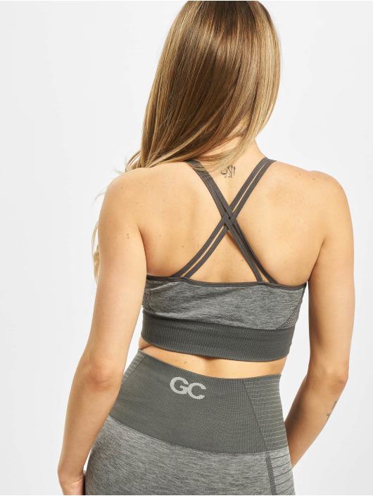 GymCodes Спортивный бюстгальтер Gymcodes Seamless Flex Cross серый