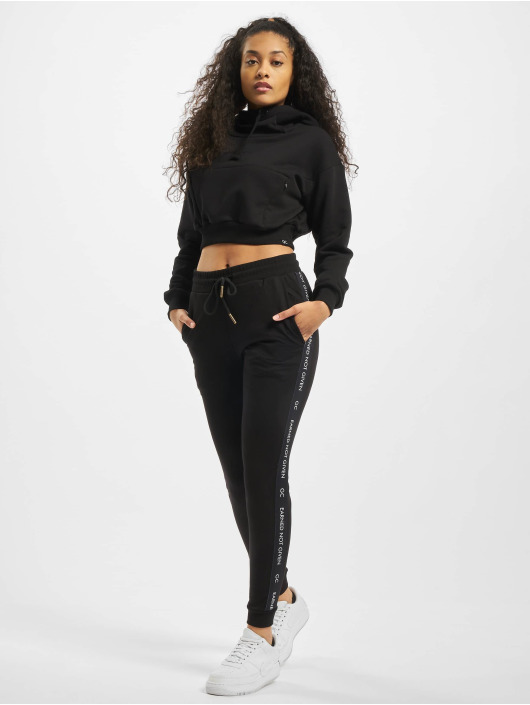 GymCodes Sport Hoodies Icon Cropped czarny