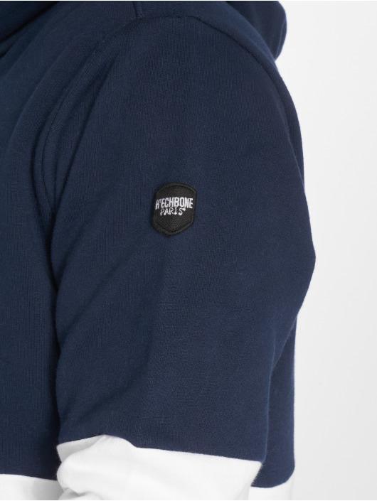 Hechbone Bluzy z kapturem Colorblock niebieski