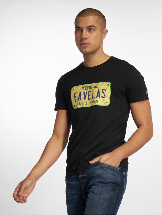 Hechbone Tričká Favelas èierna