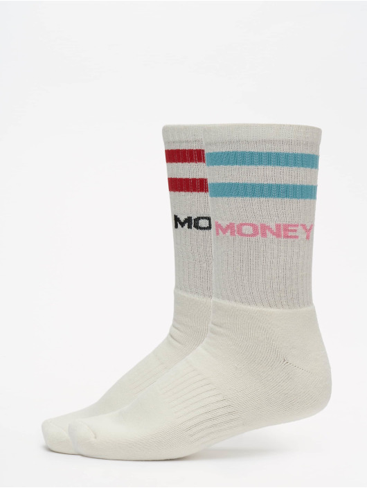 Helal Money Calzino Strip bianco