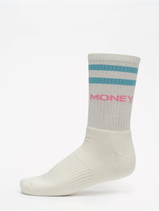 Helal Money Socks Strip white