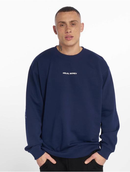 Helal Money Swetry Fully Armed niebieski