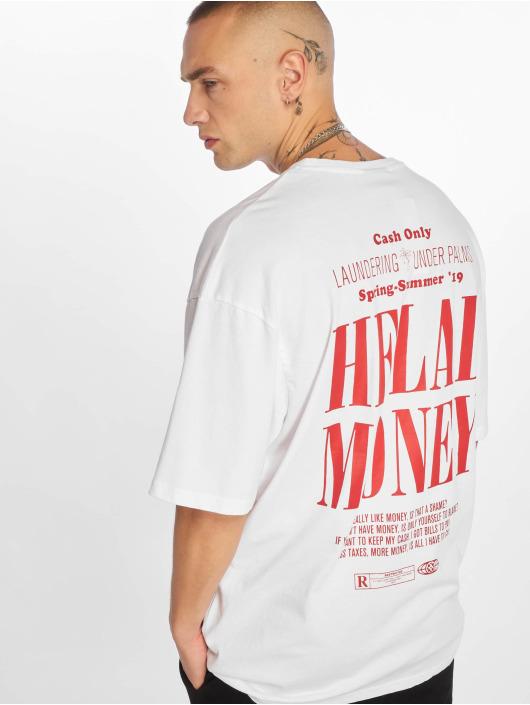 Helal Money T-paidat Cash Only valkoinen