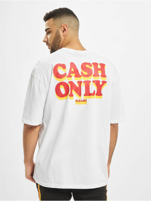 Helal Money T-Shirt Cash Only Pls blanc