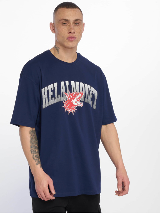 Helal Money T-Shirt Across The Chest bleu