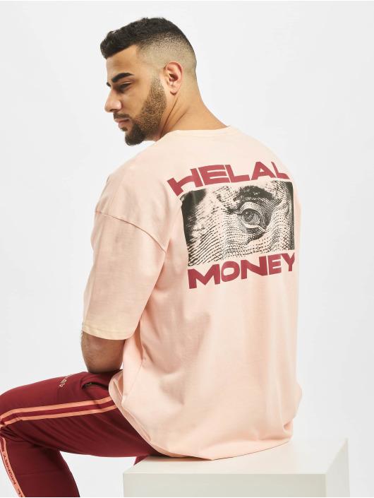 Helal Money Tričká Franklin ružová