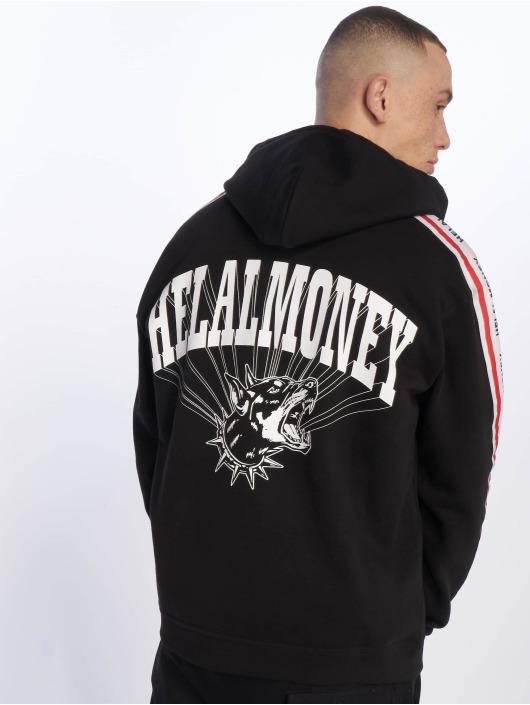 Helal Money Zip Hoodie Never Bite schwarz