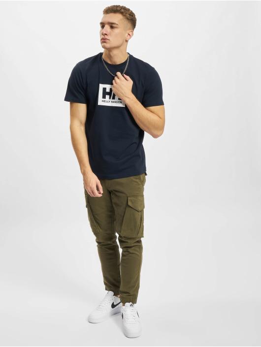 Helly Hansen T-skjorter Box blå