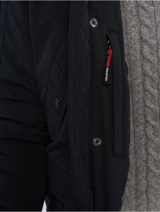 Helvetica Manteau hiver Anchorage Raccoon Edition bleu