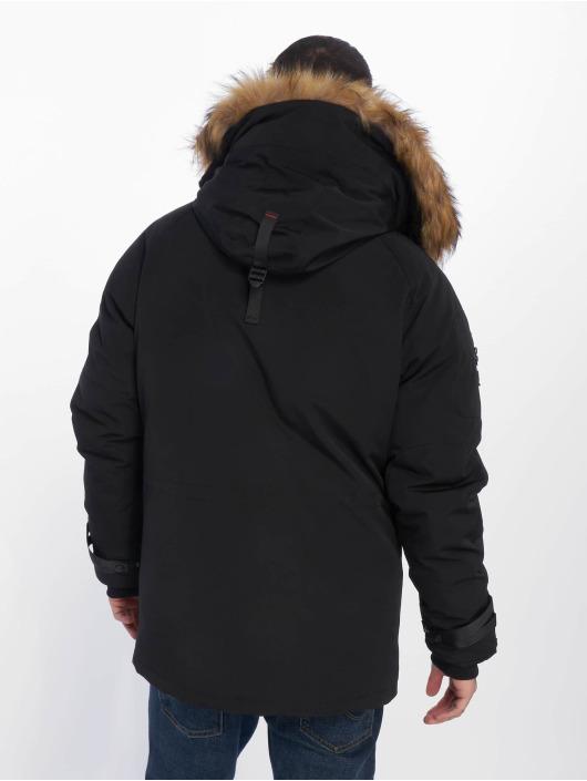 Helvetica Manteau hiver Expedition Raccoon noir