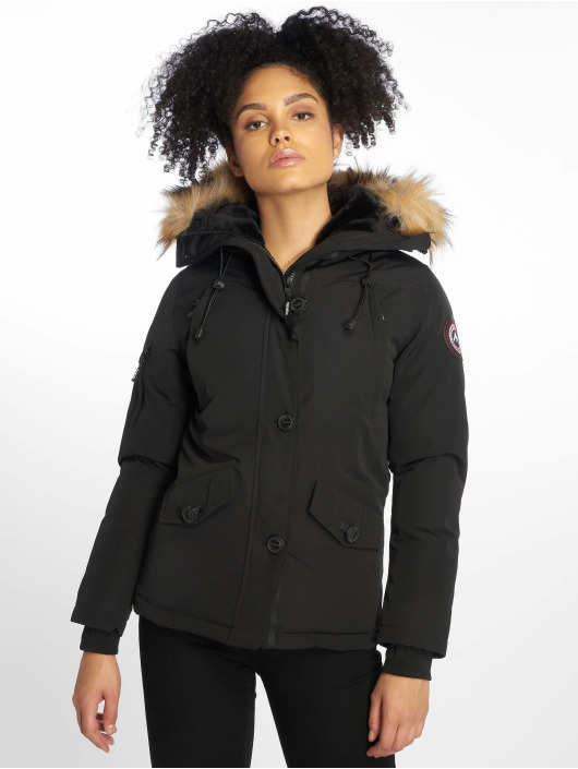 Helvetica Manteau hiver Ontario Raccoon Edition noir