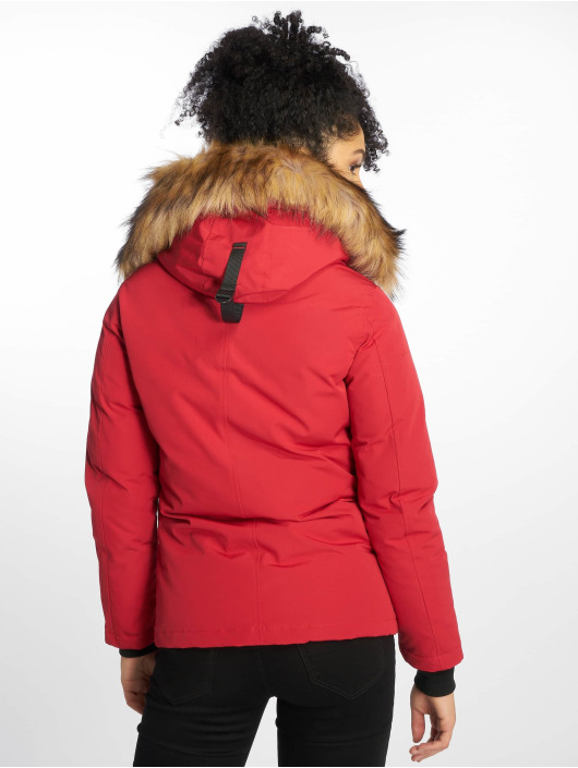 Helvetica Manteau hiver Ontario Raccoon Edition rouge