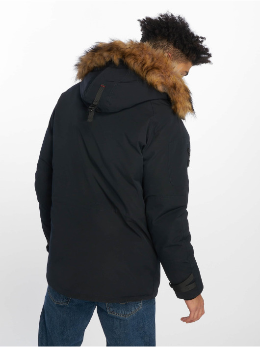 Helvetica Vinterjackor Expedition Raccoon Edition blå