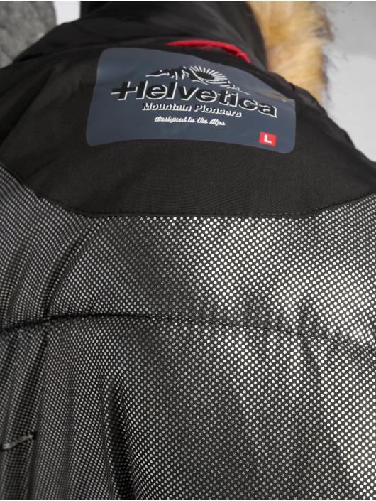 Helvetica Winter Jacket Anchorage Raccoon Edition black