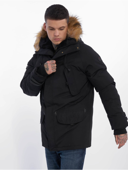 Helvetica Winter Jacket Expedition Raccoon black