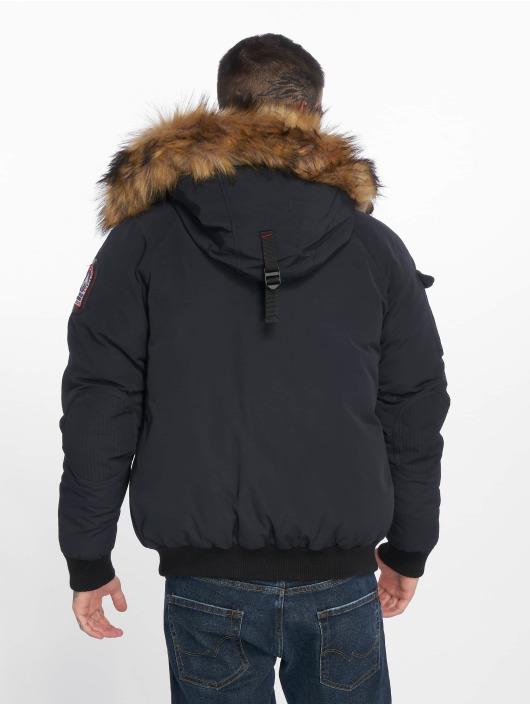 Helvetica Winter Jacket Anchorage Raccoon Edition blue