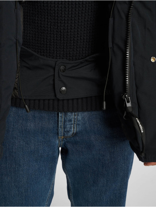 Helvetica Winter Jacket Expedition Raccoon Edition blue