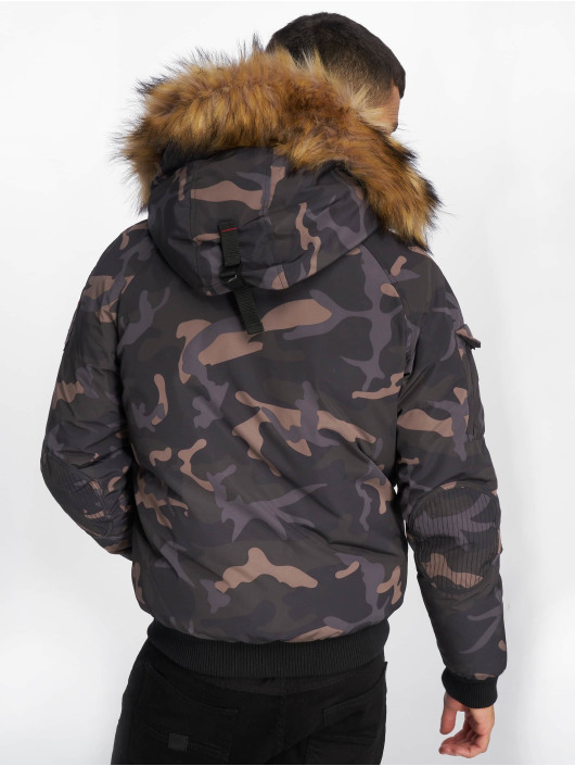Helvetica Winter Jacket Anchorage Raccoon Edition camouflage