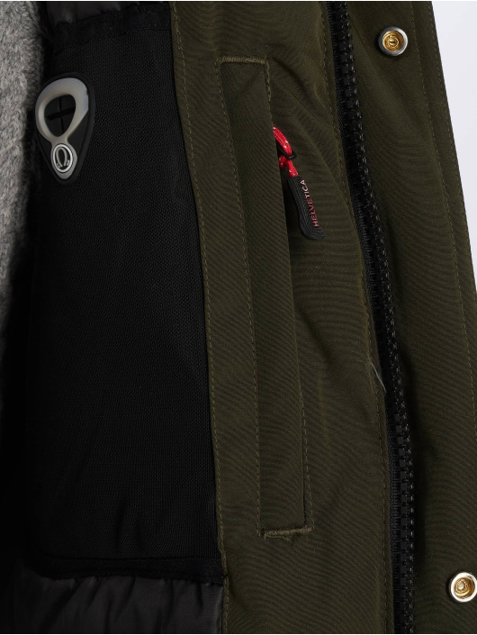 Helvetica Winter Jacket Expedition Raccoon Edition khaki