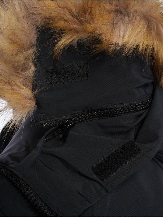 Helvetica Winterjacke Anchorage Raccoon Edition blau