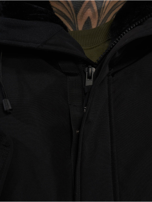 Helvetica Winterjacke Expedition Raccoon schwarz