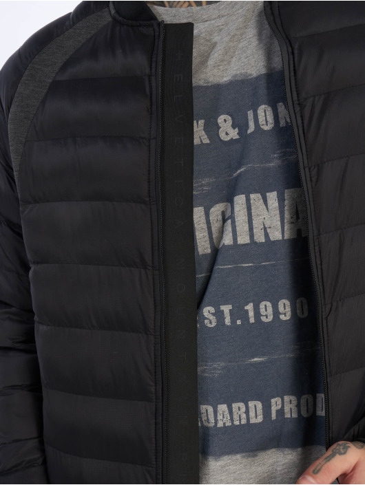 Helvetica Winterjacke Jord schwarz