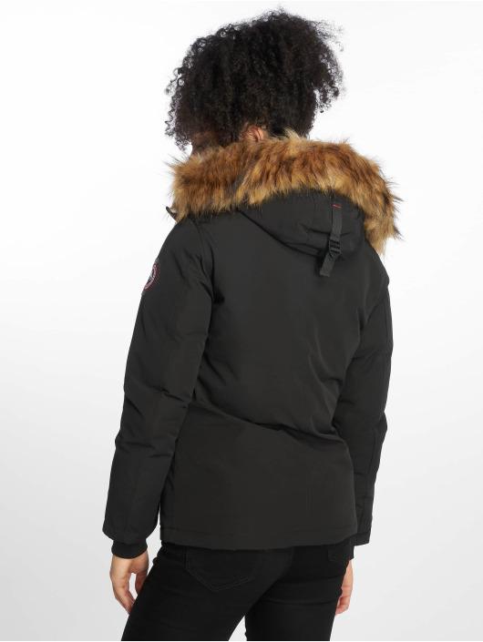 Helvetica Winterjacke Ontario Raccoon Edition schwarz