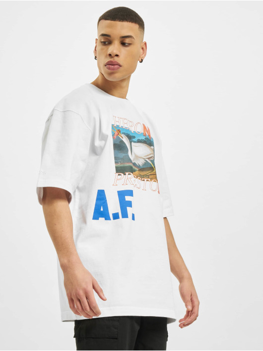 Heron Preston T-Shirt Over Print blanc