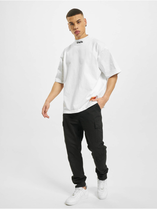 Heron Preston T-Shirt Turtleneck blanc