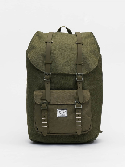 Crosshatcholive Night Herschel Little America Olive Backpack 0wOknP8