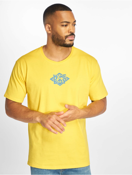Homeboy T-Shirt The Bigger Homie Nappo Logo yellow