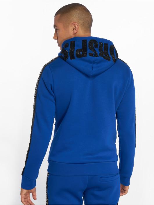 Horspist Sweat capuche zippé Snap bleu