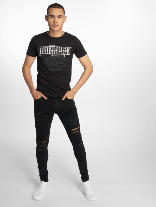 Horspist T-Shirty Boston czarny