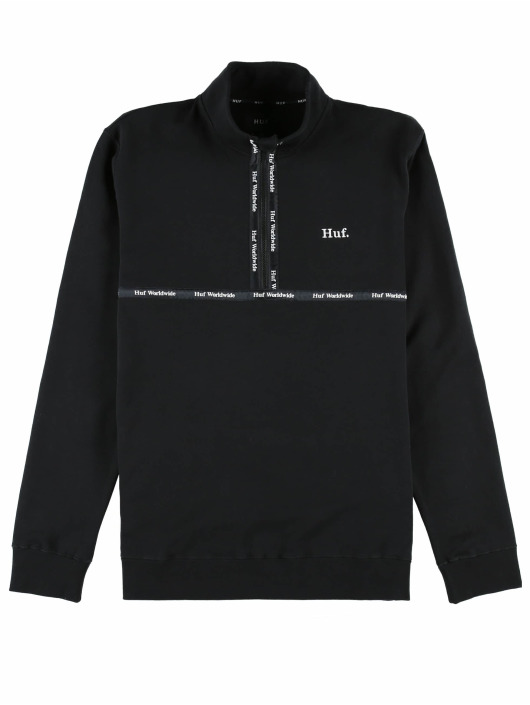 HUF Jersey Midtown 1/2 Zip Fleece negro