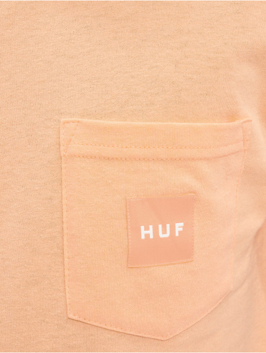 HUF T-Shirt Box Logo Pocket orange